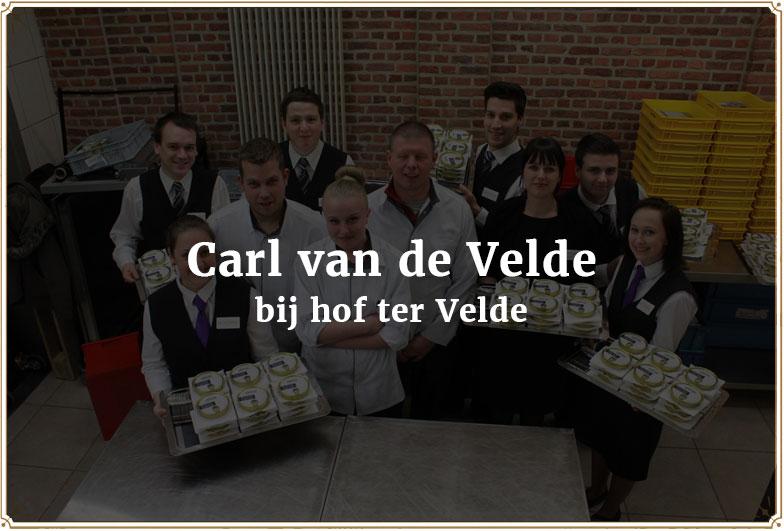 Carl van de Velde bij hof ter Velde